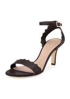 Chloé Chloe Scalloped Leather Sandal