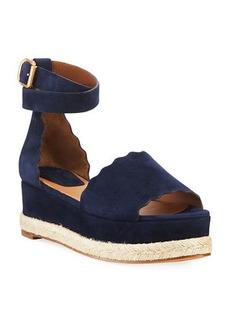 Chloé Chloe Scalloped Platform Espadrille Sandal