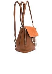 22d756090f ... Chloé Chloe Small Faye Calfskin   Suede Backpack ...