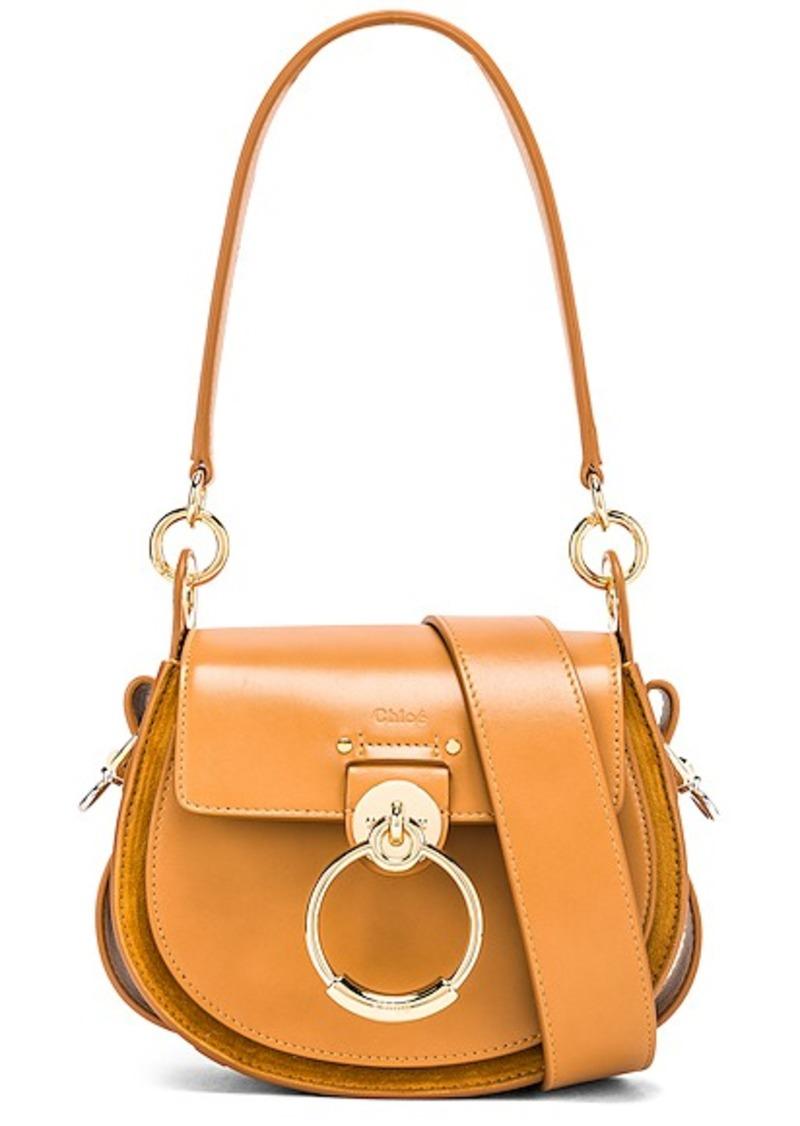 Chloé Chloe Small Tess Shiny Calfskin Shoulder Bag