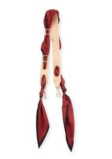 Chloé Chloe Solid Scarf Leather Shoulder Strap For Handbag