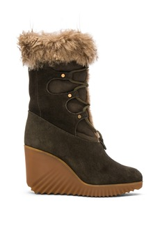 Chloe Suede Foster Wedge Boots