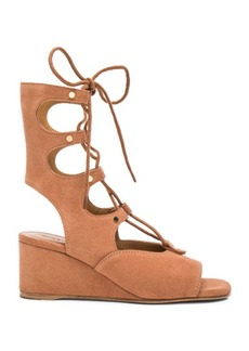 Chloé Chloe Suede Foster Wedge Sandals