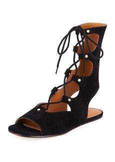 Suede Mid-Calf Gladiator Sandal