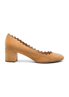 Chloe Suede Scallop Heels