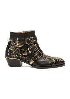 Chloe Susanna Leather Studded Booties