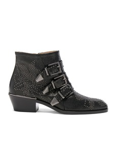 Chloé Chloe Susanna Metallic Leather Studded Booties