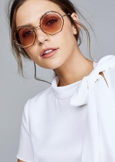Chloé Chloe Tally Round Scalloped Sunglasses