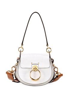 Chloé Chloe Tess Small Embossed Leather Shoulder Bag