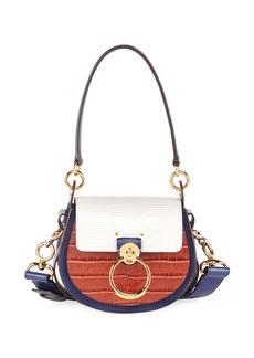 Chloé Chloe Tess Small Mixed-Media Crossbody Bag