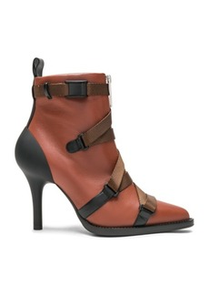 Chloé Chloe Tracy Leather Cross Strap Ankle Boots