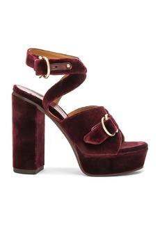 Chloé Chloe Velvet Kingsley Sandals