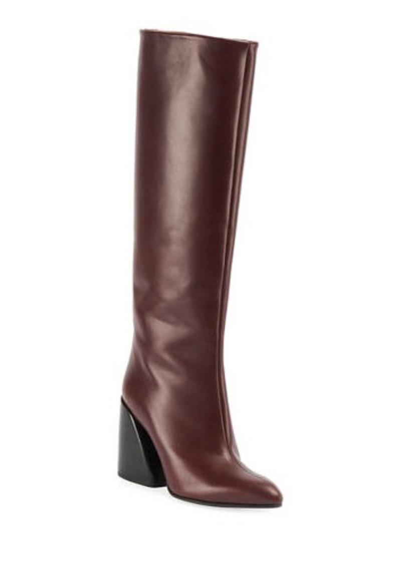 Chloé Chloe Wave Calf Leather Tall Boots