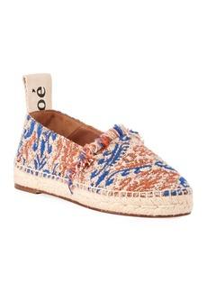 Chloé Chloe Woody Tapestry Slip-On Espadrilles