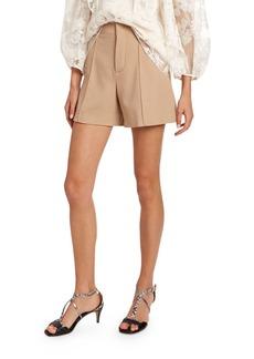 Chloé Chloe Wool Crepe Shorts