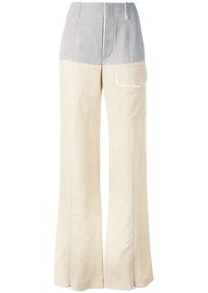 Chloé colour block wide leg trousers