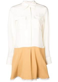 Chloé contrast flared shirt dress