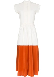 Chloé contrast-hem shirt dress