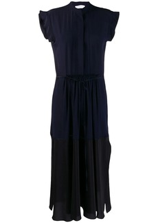 Chloé contrast panel midi dress
