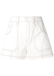 Chloé contrast piping shorts