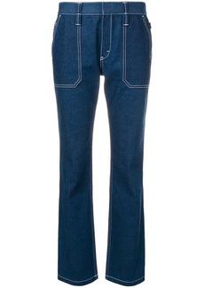 Chloé contrast stitch jeans