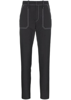 Chloé Contrast Stitch Turn Up Pants