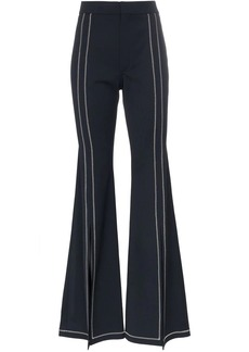 Chloé Contrast stitch wool-blend flare trousers
