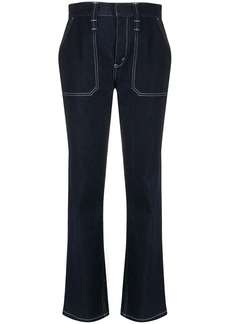 Chloé contrast stitching bootcut jeans