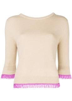 Chloé contrast trim jumper