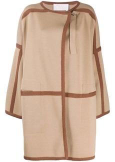 Chloé contrast trims cardi-coat