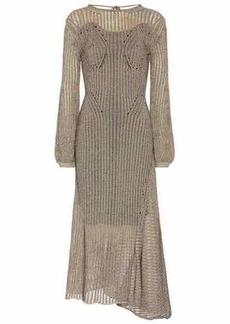 Chloé Cotton-blend knit midi dress