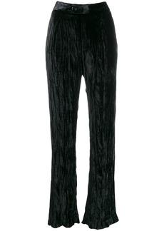 Chloé creased high-waisted trousers