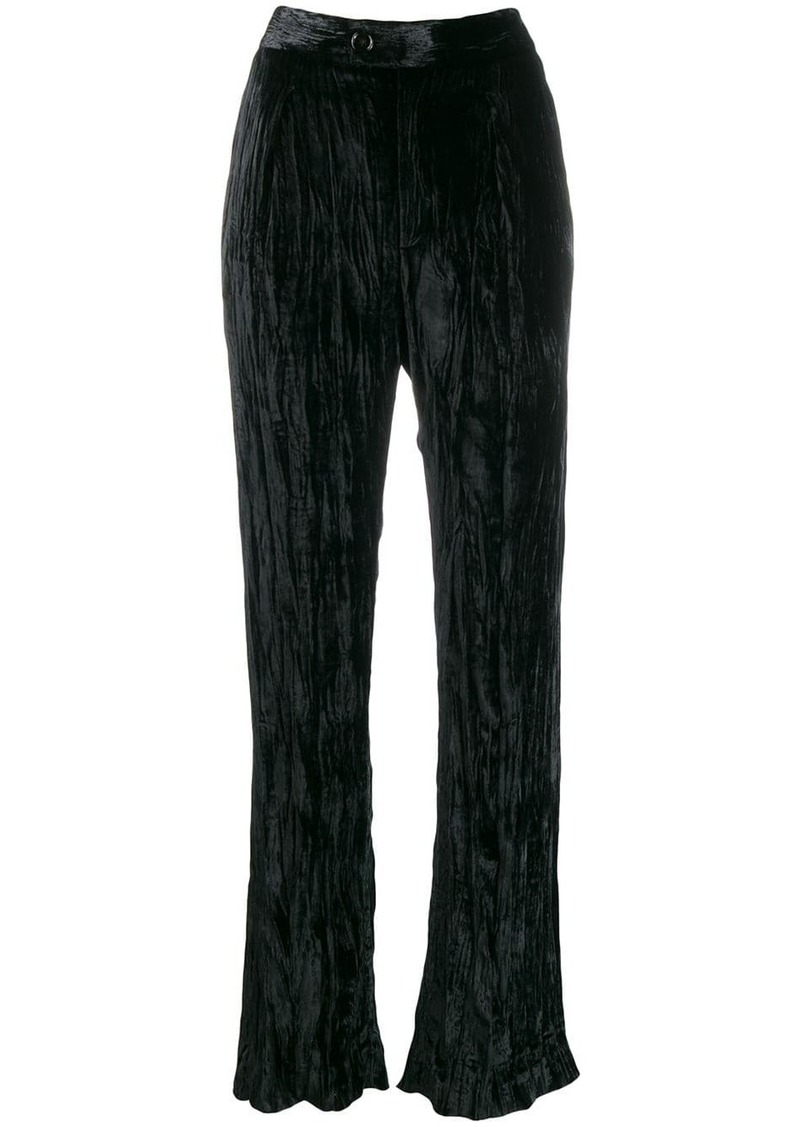 Chloé creased high-waisted trousers