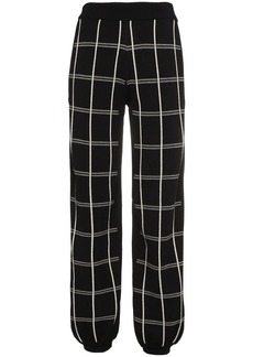 Chloé crepe check track trousers