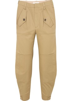 Chloé Cropped Cotton-blend Gabardine Tapered Pants