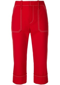 Chloé cropped high-rise trousers