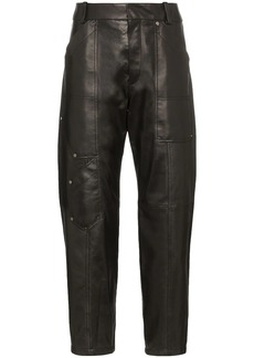 Chloé cropped leather trousers