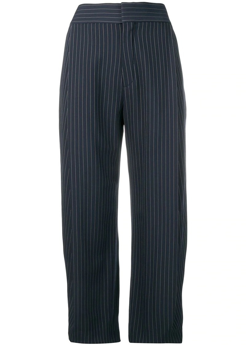 Chloé cropped pinstriped trousers