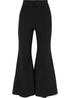 Chloé Cropped wool-blend flared pants