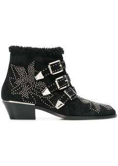 Chloé cross-over buckle boots