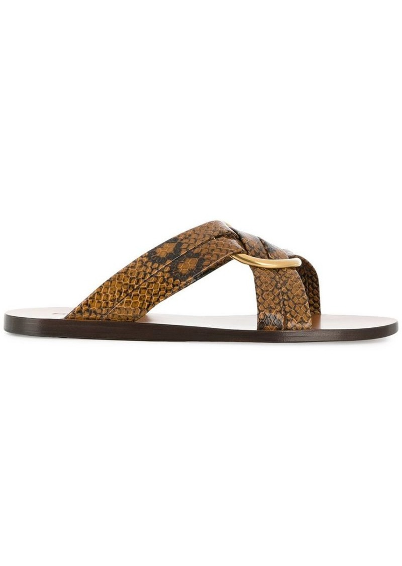 Chloé crossover sandals