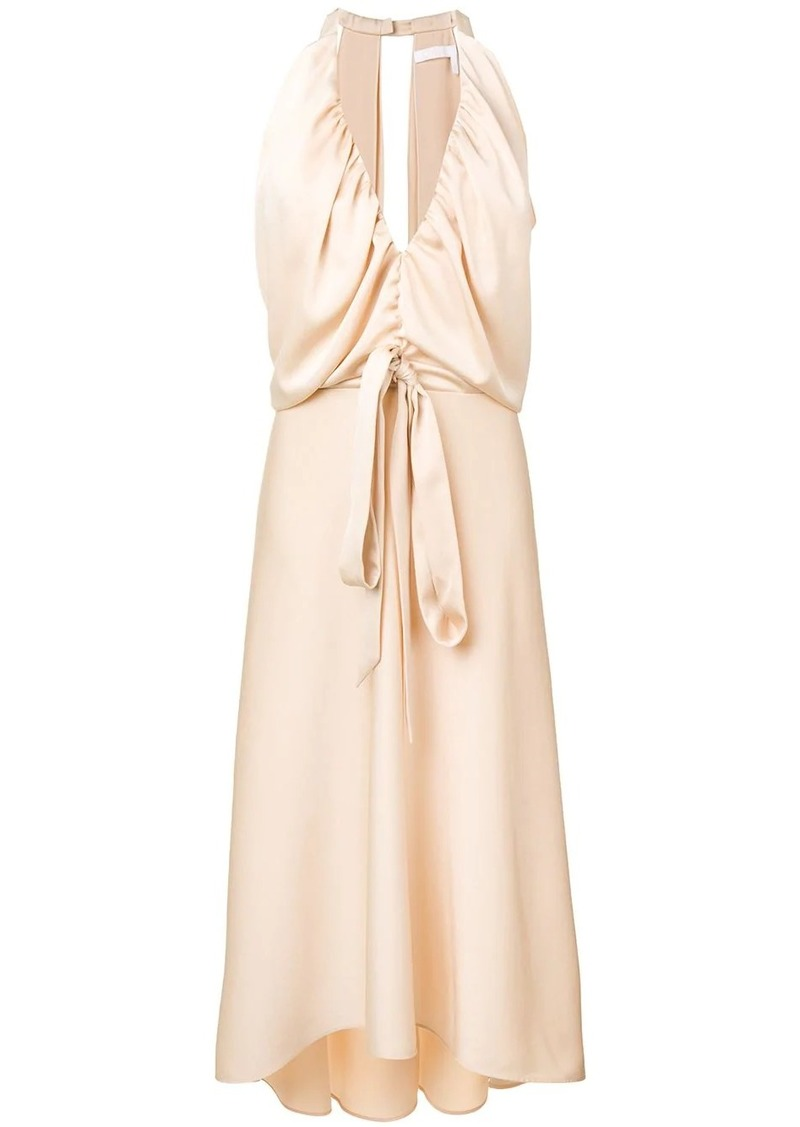 Chloé deep V-neck midi dress
