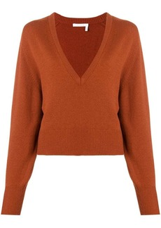 Chloé deep V-neck sweater