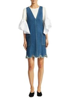 Chloé Denim V-Neck Dress