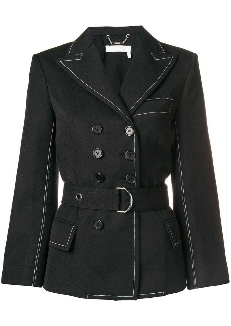 Chloé double-breasted gabardine jacket