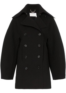 Chloé Double-breasted puff sleeve wool coat
