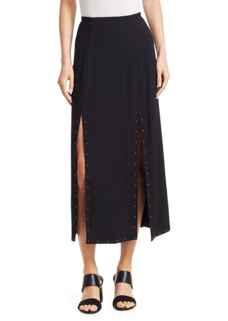 Chloé Double Slit Crepe Midi Skirt