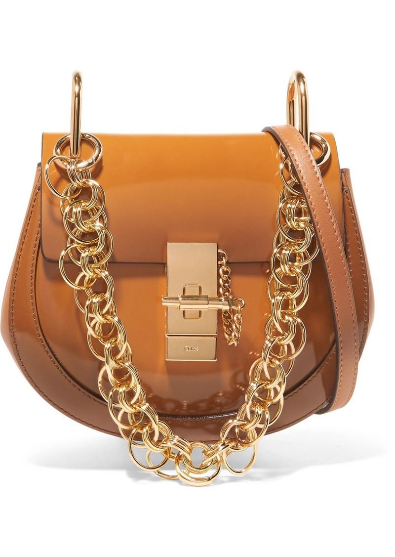 28125021a3a Chloé Drew Bijou mini glossed-leather shoulder bag