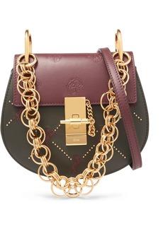 Chloé Drew Bijou Mini Studded Embroidered Leather Shoulder Bag