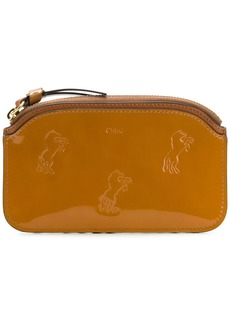Chloé embossed horse wallet